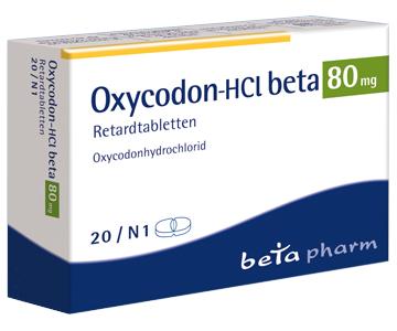 Oxycodon rezeptfrei kaufen 80 mg 20 Tabletten